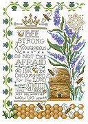 Bee Strong - Cross Stitch Pattern