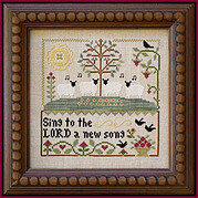 Sing to the Lord - Cross Stitch Pattern