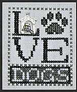 Love Dogs w/charm - Cross Stitch Pattern