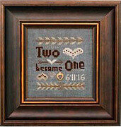 Two Become One - Cross Stitch Pattern