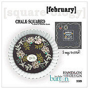 Chalk Squared - February - Cross Stitch Pattern