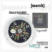 Chalk Squared - March - Cross Stitch Pattern
