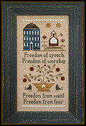 Four Freedoms - Cross Stitch Pattern