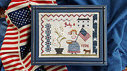 Fourth Of July Picnic - Cross Stitch Pattern