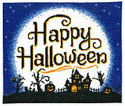 Full Moon Halloween - Cross Stitch Pattern
