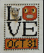Love Oct 31 (with charm) - Cross Stitch Pattern