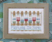 Refuse to Sink - To the Beach 9 - Cross Stitch Pattern