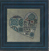 Quaker Heart - Cross Stitch Pattern