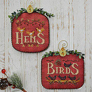 12 Days Hens & Birds - Cross Stitch Pattern