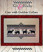 Cats with Golden Collars - Cross Stitch Pattern