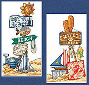 Beach Signs I - Cross Stitch Pattern