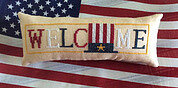 Patriotic - Wee Welcome - Cross Stitch Pattern