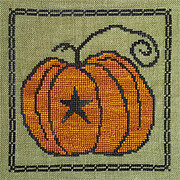 Prim Pumpkin - Cross Stitch Pattern