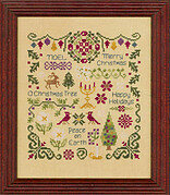 Antique Christmas Sampler - Cross Stitch Pattern
