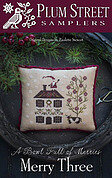 Merry Three - Cross Stitch Pattern