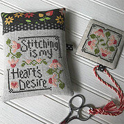 Stitching is My Heart's Desire - Cross Stitch Pattern