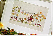 Mademoiselle Automne - Cross Stitch Pattern