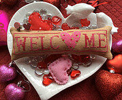 Wee Welcome - February Hearts - Cross Stitch Pattern