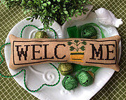 Wee Welcome - March Shamrock - Cross Stitch Pattern