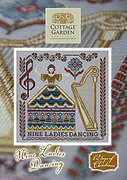 Nine Ladies Dancing - Cross Stitch Pattern