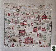 Christmas Village  (includes buttons) - Cross Stitch Pattern