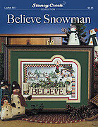 Believe Snowman - Cross Stitch Pattern