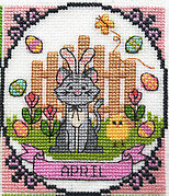 Year of Animal Fun & Frolics - April - Cross Stitch Pattern