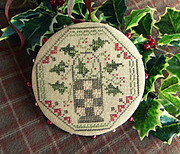 Quaker Holly Pinwheel - Cross Stitch Pattern