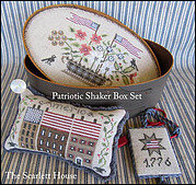 Patriotic Shaker Box - Cross Stitch Pattern