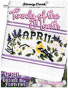 Towels of the Month - April - Cross Stitch Pattern
