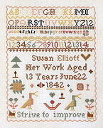 Susan Elliott Sampler - Cross Stitch Pattern