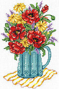 Spring Flowers In Vase - Cross Stitch Pattern