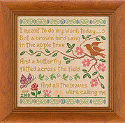 Brown Bird Sampler - Cross Stitch Pattern