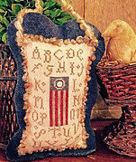 Sampler Flag - Cross Stitch Pattern