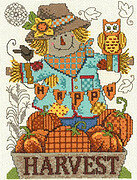Happy Harvest Scarecrow - Cross Stitch Pattern