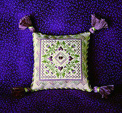 Plum Fancy Pincushion - Cross Stitch Pattern