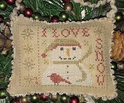 I Love Snow - Cross Stitch Pattern