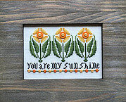 Sunshine (with buttons) - Cross Stitch Pattern