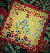 Merry Christmas With Love - Cross Stitch Pattern
