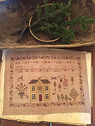 Gathering the Greens Sampler - Cross Stitch Pattern