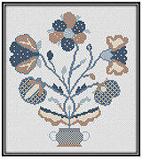 Elizabeth Foote's Flowers - Cross Stitch Pattern