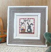 April Squared - Cross Stitch Pattern