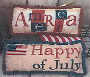 America & 4th of July Pillows - Cross Stitch Pattern