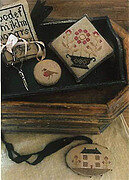 Farmhouse Sampler Pinkeep Pin Disk & Scissor Fob