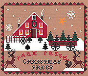 Farm Fresh Christmas Trees - Cross Stitch Pattern