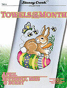 Towels of the Month - April Butterfly Bees & Bunny - Cross S