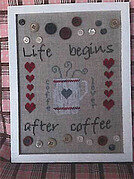 I Love Coffee - Cross Stitch Pattern