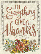 Give Thanks Floral - Cross Stitch Pattern