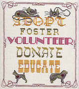 Adopt, Foster, Sponsor - Cross Stitch Pattern