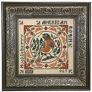 Birdie & Berries - American Robin - Cross Stitch Pattern